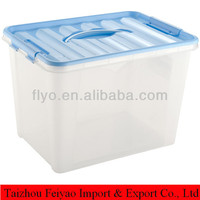 Wholesale opaque plastic container with handle