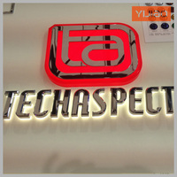 Company fabricated build up led backlit metal letter sign