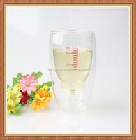 High quality China supplier wholesale handmade reusable double wall 250ml coffee tea thermos and mug custom made glass beer cup