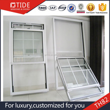 Vertival sliding double hung windows,aluminum window 6063