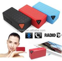 Mini Portable Jambox Style X3 Bluetooth speaker with Mic wireless bluetooth speaker for iPhone Samsung mini speaker FM radio