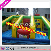 Multifuntional inflatable football shoot/inflatable basketball shoot/three way inflatable