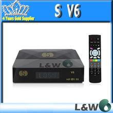 Original S V6 Dual-Core hd decoder 600MHz Processor Mini S-V6 CPU Support WEB TV USB Wifi 3G iptv box Digital Satellite Receiver