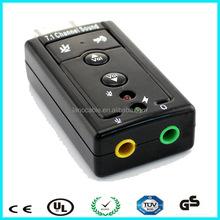 3d 7.1 audio sound card adapter