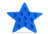 Five-pointed star shape silicone ice mold