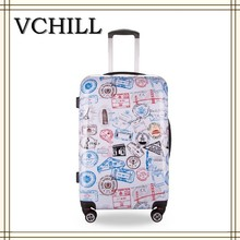 Colorful and beautiful in the summer girls travel luggage