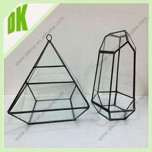 Perfect decoration glass flower terrarium~~Pretty Vintage clear glass hanging vases