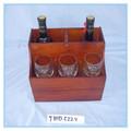 artesanía de madera artesanía de madera estante del vino