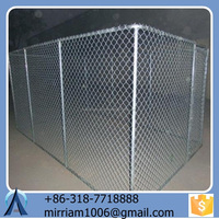 Strong Chain link & welded dog kennel large dog run carrier for dog