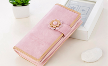 Ladies wallet long sweet pretty flowers students long lovely purse female wallet