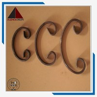 Decorative Wrought iron components scrolls for fence