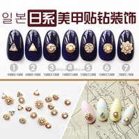 1,000pic fashion 3D alloy nail art with pearl & rhinestone decoration