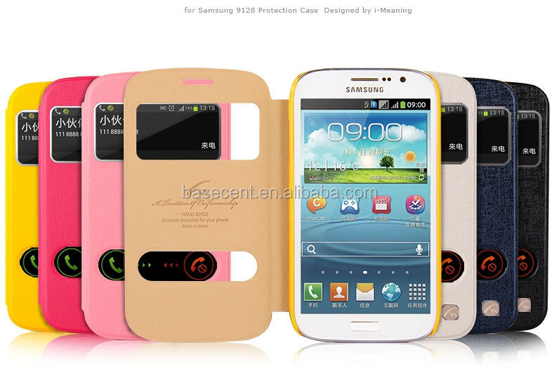 2014 Newest PU leather case for Samsung Galaxy Grand GT I9128, cover case for Samsung Galaxy i9128