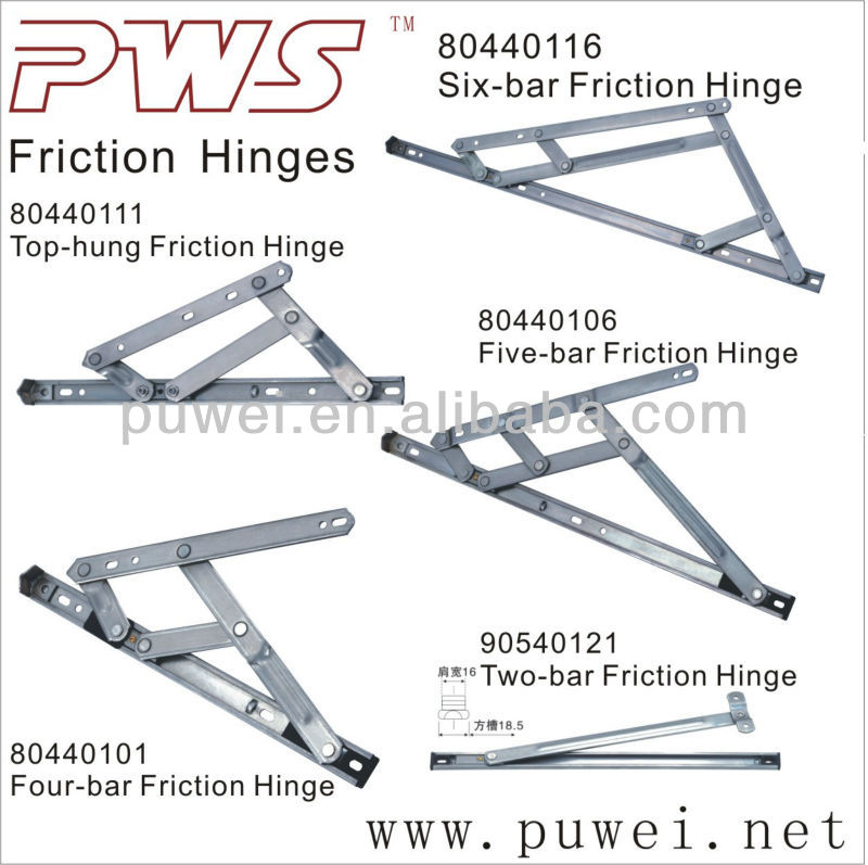 Friction stay friction hinge heavy duty 2 bar 3 bar 4 bar for Window hinges