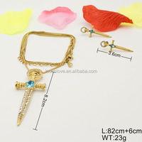 Fancy chic T&L jewelry style artificial kundan bridal jewellery sets