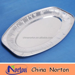 Cheap Aluminum Foil Plates /Aluminum Food Container For Air,Restaurant,Hotel,Bakery NTP- ALF106B