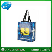 Excellent quality branded handled best pp woven shopping bag