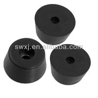 3 x Metal Rubber Furniture Table Chair Leg Tips End Caps Foot Pads