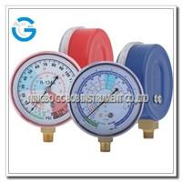 High quality steel case brass internal refrigeration high and low pressure gauge