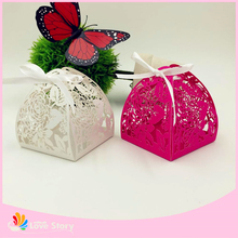 Dragee Packaging Personalized Engraved Wedding Favors Paper Box For Wedding Invitation