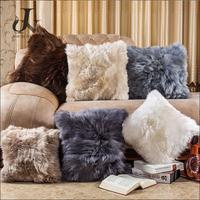 New Soft Sheep Wool Pillow Lamb Fur Cushion