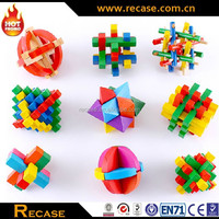 Wood Puzzle Educational Intelligent Wooden Toy Lock Puzzle child toy
