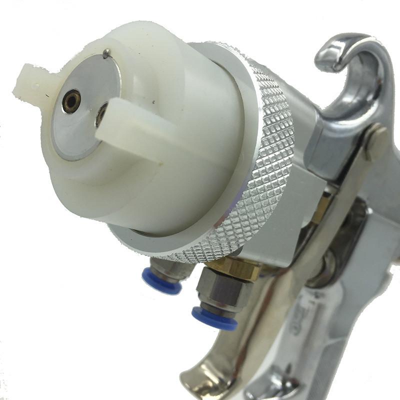 SAT1182 Профессионал Высокого Давления Лак Хром Регулируемый Регулятор Давления Воздуха Пистолет Распылитель Пены Станки