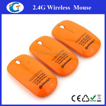 Slim design wireless optical mouse drivers with 2.4g