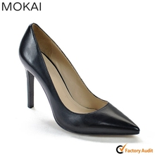 A120-A1 BLACK 10cm pointed toe high heel man made kid leather classic elegant dress shoes