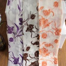 2015 fashion classic flocked curtain flies curtain in china brazil curtain fabric