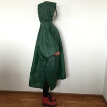 Adult Children PVC/PE colorful red and green waterproof raincoats poncho