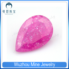 Factory Price Pear Shape Pink Ice Cubic Zirconia