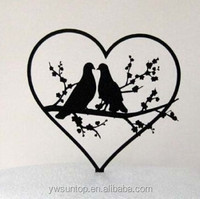 Two Doves in Love Acrylic Cake Topper Wedding Decorations Wholesale