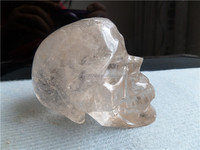 Good clearness crystal skull with high quality crystal rock