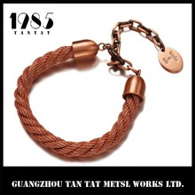 2015 China Factory price men copper bracelet with tag