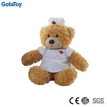 custom stuffed nurse bear toy
