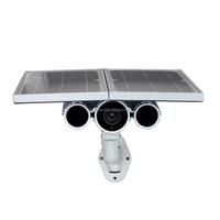 Super star light sensor powerful battery capacity long range nightvision 100m HD P2P 720p solar ip camera with led street light