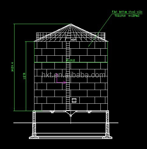 Steel Silo Drawings Corrugated Steel Silo For