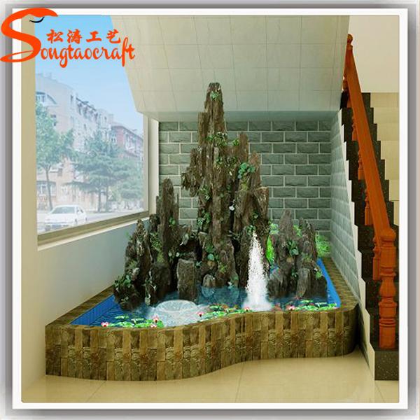 2015 china indoor pared artificial de agua cascada de - Fuentes de pared de piedra ...