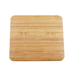 Eco-friendly Bamboo Wireless Cell Phone Charger
