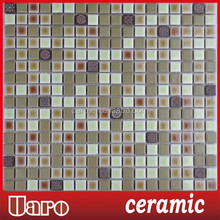 Park ceramic mosaic tiles,15x15mm ceramic tiles for garden