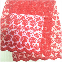 African french style chemical white allover lace fabric