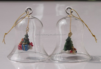 Decoration hand blown glass bell of christmas tree ornaments