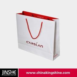 folded shopping paper bag/paper shopping bag making