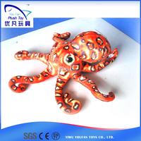 Lovely baby doll kids souvenir 100% pp stuffed animal /plush soft octopus baby education toys