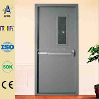Zhejiang AFOL Steel fireproof door with panic push bar and low price