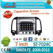 In dash android multimedia car DVD player with Navigation for Hyundai SANTA FE 2012