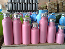 hot type stainless steel water bottle with bamboo lid