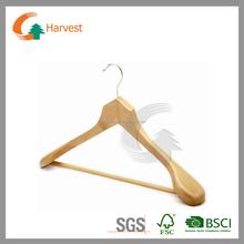 Wooden hanger in natural finish
