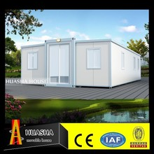 Low cost PU sandwich panel One side open side container booth